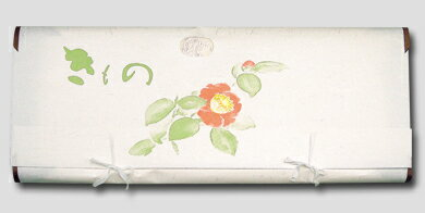 Kimono thick paper for a book cover ( folded paper-wrapping case) Camellia handle 64cm (obi / long undergarment use) Group of five pieces of pasting in