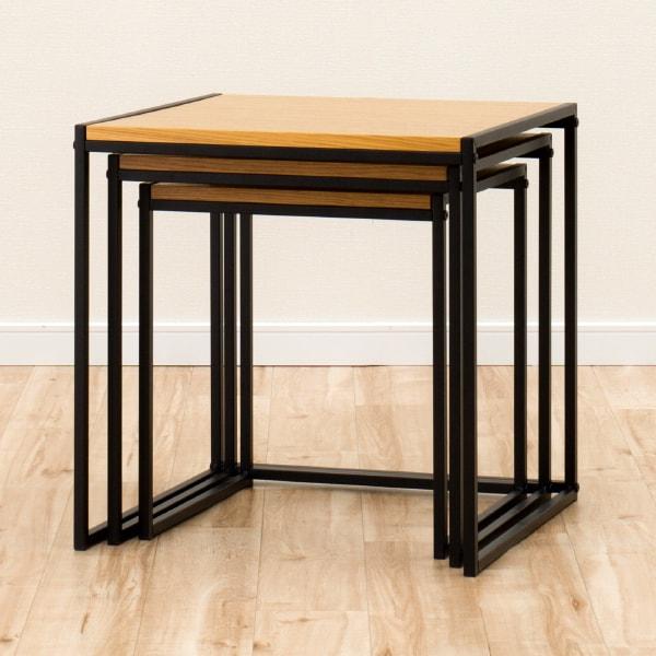 [幅45cm]ネストテーブル(エデル LBR) ニトリ 【玄関先迄納品】 【1年保証】