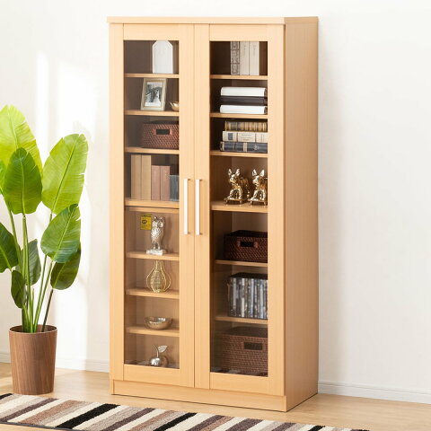 スライド書棚(カルテット2 LBR) ニトリ 【完成品・配送員設置】 【5年保証】