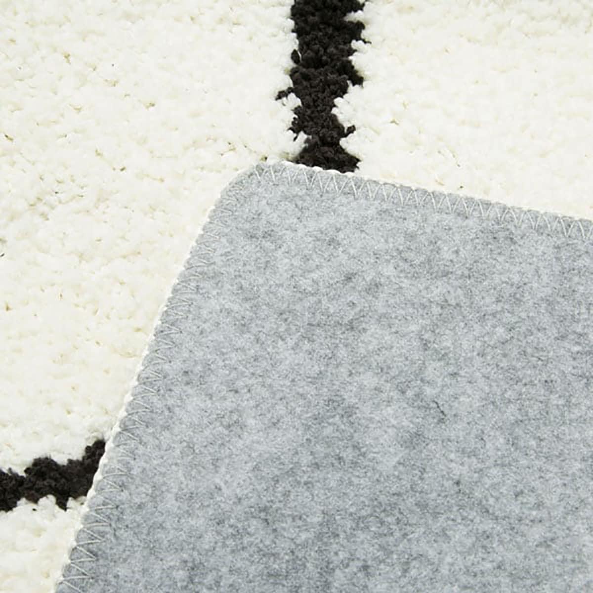 ラグ柄物デザインラグシャギーラグおしゃれ北欧厚手やわらかシャギーラグ(IVダイヤ185X185)シンプルベーシックホワイトアイボリー絨毯ニトリ【玄関先迄納品】