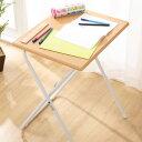 テーブル 折りたたみテーブル ハイテーブル 折りたたみ 軽量 折りたたみデスク(フレッタ スリム LBR) 無地 シンプル ベーシック ブラウン スチール パ