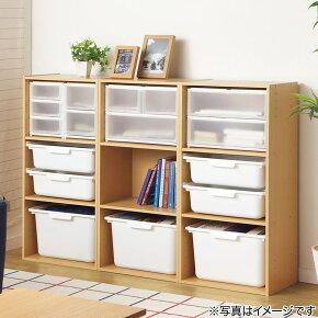 カラーボックスカラボ3段(DBR)ニトリ【送料有料・玄関先迄納品】