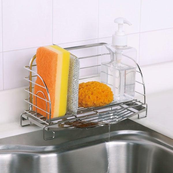 ニトリ『水が流れる洗剤スポンジラック』