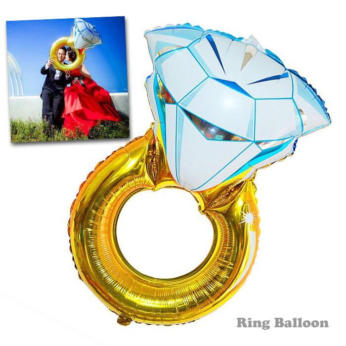 前撮り バルーン 指輪 アイテム ウエディング パーティーグッズ 結婚式 フォトプロップス リング型 ウエディングパーティー デコレーショングッズ 飾り 風船 単品 お祝い 二次会