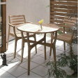 ガーデンファニチャー ロータステーブル60+アームチェアー2脚 3点セット[F-185]【ガーデンファニチャーセット ガーデンチェアー ガーデンテーブル 庭園用家具】