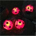 イルミネーションモチーフタイプ:LEDソーラーライト・てんとうむし[L-374]【あす楽対応不可】【全品送料無料】