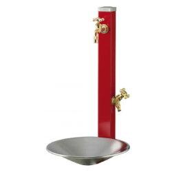 【立水栓/水栓柱】ウォータースタンド・スプレ(蛇口2個セット)/シャインポットセット