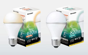 【シャープ】LED電球☆一般電球タイプ 2タイプ 昼白色・電球色(DL-LA81N・DL-LA62L)60W形相当【正規品】【新品】