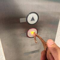【NK-HOOK】タッチレスキーホルダードアオープナー非接触真鍮銅tv放送タッチレスチャームキーホルダーエレベーターボタン押しスイッチATMタッチレスキーホルダーバッグハンガー