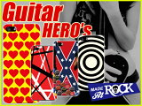 ギタースマホケース/カバー/ギタリスト/hide風/ヴァンヘイレン風/ザックワイルド風/メタルロック/ハードタイプ