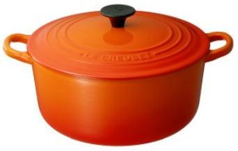 【送料無料】ル・クルーゼ ココット・ロンド2501 オレンジ 18cm