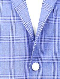 シングルジャケット/ブルーチェック/スタイルアップ/S.M.L.XL