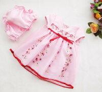 花刺繍飾り子供ドレス