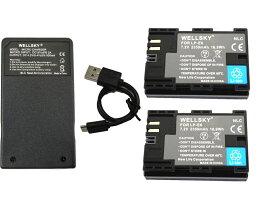 [あす楽対応]CANONキヤノン[LP-E6/LP-E6N]互換バッテリー2個&[超軽量USB急速互換充電器バッテリーチャージャーLC-E6/LC-E6N1個[3点セット][純正充電器で充電可能残量表示可能純正品と同じよう使用可能]イオスEOS70D/EOS70DMarkII