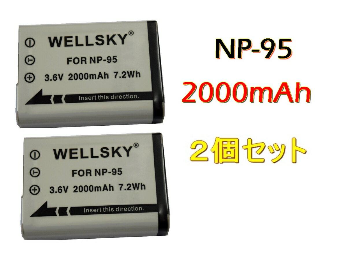 デジタルカメラ用アクセサリー, バッテリーパック  2 FUJIFILM NP-95 RICOH DB-90 X100LE X100T X30 XF10 X70 X-S1