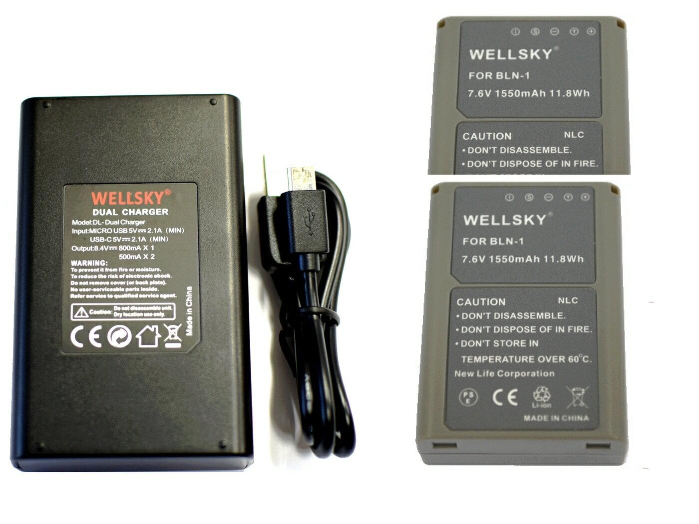 カメラ・ビデオカメラ・光学機器用アクセサリー, 電源・充電器 BLN-1 1550mAh 2 BCN-1 USB Type-C 1 3 OLYMPUS OM-D E-M5 E-P5 E-M1 E-M5 Mark II E-M1X