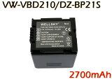 【あす楽対応】● Panasonic パナソニック / Hitachi 日立 ● VW-VBD210 / DZ-BP21SJ 互換バッテリー ●純正充電器で充電可能 殘量表示可能