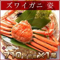 【シュリンク包装特大サイズ1尾710g前後×1尾】最高級蟹の女王特大極上ずわいがに姿(シュリンク包装)
