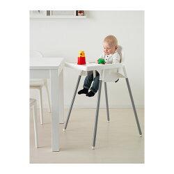 IKEAANTILOPトレイ付きベビーハイチェアイケアアンティロープ安全ベルト付ベビーチェア高さ90cm食卓キッズチェアキッチンチェア椅子【smtb-ms】49067485