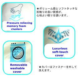 GELCLOUDMEMORYFORMCOMFORTPILLOWS2個セット低反発枕ピロー50cm×66cm【smtb-ms】1024880