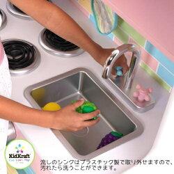 KidkraftDELUXECULINARYKITCHENキッドクラフトキッチンおもちゃおままごと木製キッチンセット3歳以上【smtb-ms】0981674