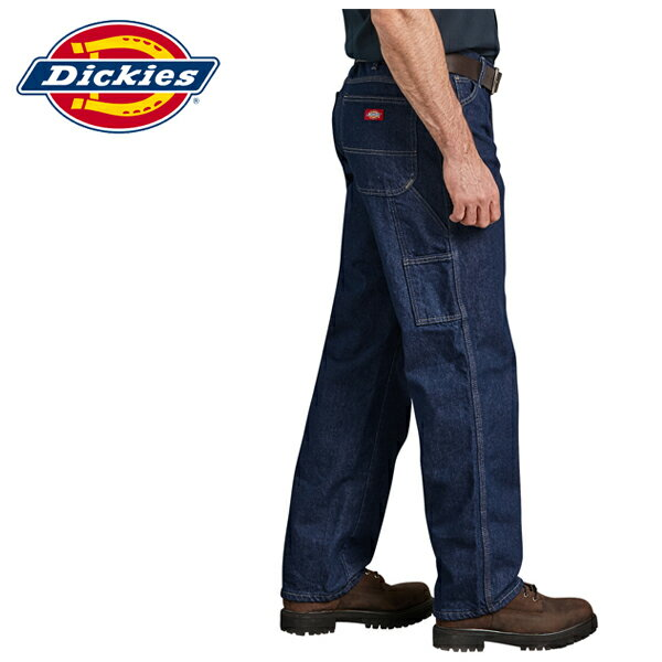 メンズファッション, ズボン・パンツ Dickies 38 Mens Industrial Work Uniform Carpenter Jeans Indigo Blue LU200RNB-01