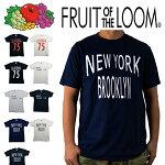カリフォルニア/ニューヨーク/ブルックリン(アメリカロゴ)CALIFORNIAプリントロゴTシャツ白黒半袖TEEシャツブラックロゴアメカジシンプルモードコットン100%古着好きフルーツオブザルームメンズレディースユニセックス