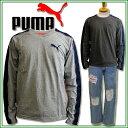 PUMA/プーマメンズ ロンTデニムとコンビ デザイン性の高いTシャツですプレゼントにも◎※※