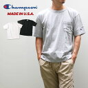 Champion チャンピオン【送料無料】○新作○メンズ US ポケットTシャツ(M L)【メール便可】MADE IN USA