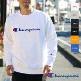 【あす楽】Championチャンピオンメンズ○新作○クルーネックロゴスウェットシャツ(M-XL)C3-H004DM便不可ホワイトグレーネイビーブラック