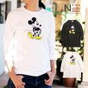【メール便可】ディズニー 親子ペア お揃い ミッキーマウス 7分袖Tシャツ ハイビスカス柄(160cm 165cm 175cm) 【TS_1】