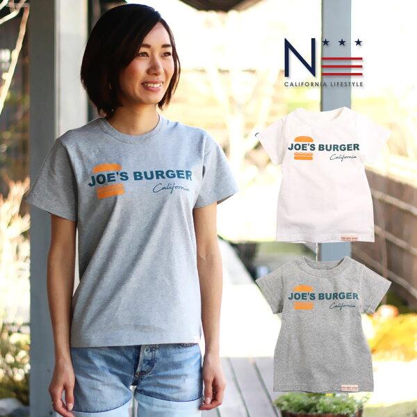 メール便可 親子ペアお揃いレディースメンズTシャツJOE'SBurger(160cm165cm) HD