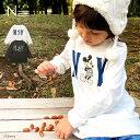 ディズニー 親子ペア お揃い○新作○NY ミッキーマウス ロンT(80cm 90cm 100cm 110cm 120cm 130cm 140cm 150cm)Disney 長袖Tシャツ 20AW 【メール便可】・・・