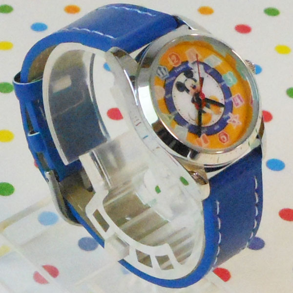 MKN-004-2/【Field work/フィールドワーク】ディズニー腕時計(ミッキー/ブルー)/Disney/バンド/リスト/Watch/ファッション/ハンド/トケイ/おしゃれ/雑貨/ウォッチ/ギフト/プレゼント