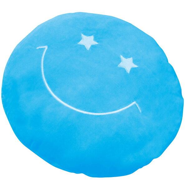 81806/ZIP/もちもちビッグクッション(ブルー)/インテリア/寝具/ピロー/雑貨/ギフト/プレゼント