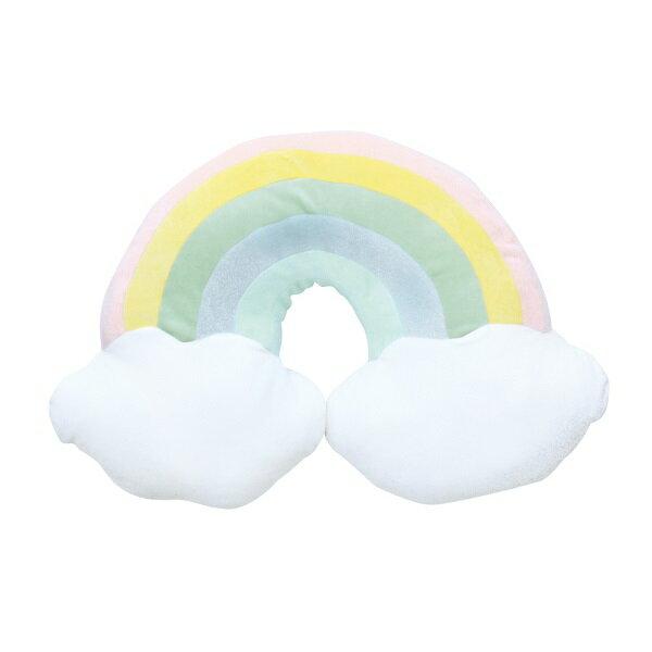 【お取り寄せ】ダイカット もちもち クッション ZIP-83386 レインボー インスタ 映え 抱き枕 インテリア 寝具 ピロー 装飾 贈り物 ギフト プレゼント