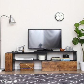 【送料無料】【選べる5色】テレビ台テレビボード伸縮テレビ台北欧コーナーローボード幅90伸縮収納ホワイトブラウンブラックダークブラウン伸縮TVボードロータイプ伸縮できるおしゃれなテレビ台ノアンインテリアベルーナ