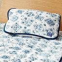 枕パッド 43×63 かわいい おしゃれ なめらか&ふわもちっ!スーパーマイクロ素材のバンダナデザイン枕パッド ベルーナ ノアン インテリア