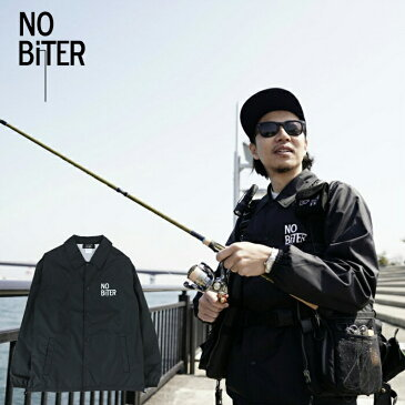 [NOBiTER/ノーバイター]男女兼用ノーバイターロゴコーチジャケット nbt182013 ブラック 黒 M L LL ナイロンジャケット フィッシング ジャケット 釣り