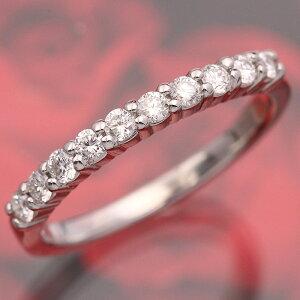 【輝き保証!】K18WGダイヤモンド【スイートテン】エタニティリング[0.3ct]《ダイヤ:カ…