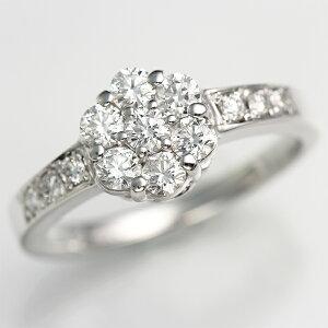 【究極のH&C】Ptダイヤモンド フルーレットリング[0.6ct]《ダイヤ:カラーD-F / …