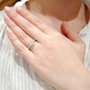 《石田ゆり子さん使用》輝き保証!Ptプラチナダイヤフラワーリング[0.6ct]《ダイヤ:カラーG/FクラリティVSカットVG》*婚約指輪(エンゲージ)としても人気です!*【特価ダイヤモンド】【楽ギフ_包装】【RCP】