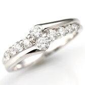 【輝き保証!】K18WGダイヤモンド【ブライダル】リング[0.5ct]《米倉涼子主演・家政婦は見た!使用》《ダイヤ:カラーD-F / クラリティVVS1-VS1 / カットEX-VG》婚約指輪・エンゲージリング【バレンタイン プレゼント ギフト】