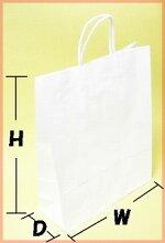 白無地紙袋手提げ袋W320×D115×H402.5ミリ200枚(1ケース)NO.2