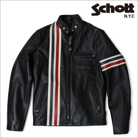 ショット Schott ライダースジャケット ジャケット レザージャケット LEATHER JACKET 671 ブラック メンズ