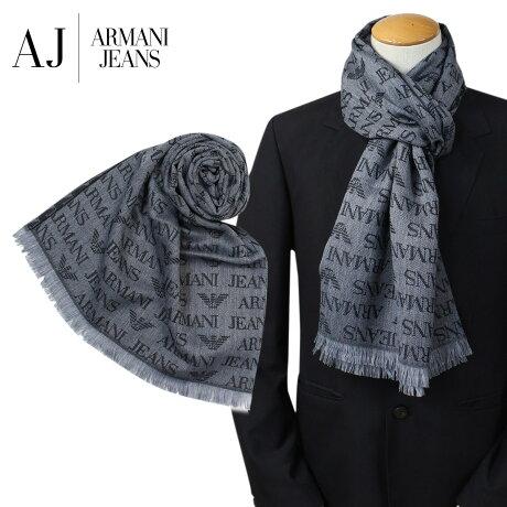 ARMANI JEANS マフラー メンズ アルマーニ ウール イタリア製 ビジネス カジュアル 934504 CC786 [1712]