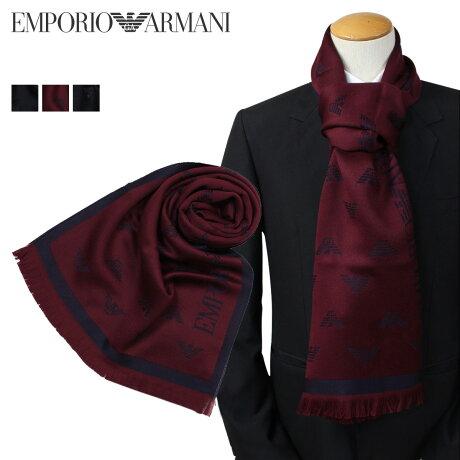 EMPORIO ARMANI マフラー メンズ エンポリオ アルマーニ ウール イタリア製 ビジネス カジュアル 6250097A306 [1712]