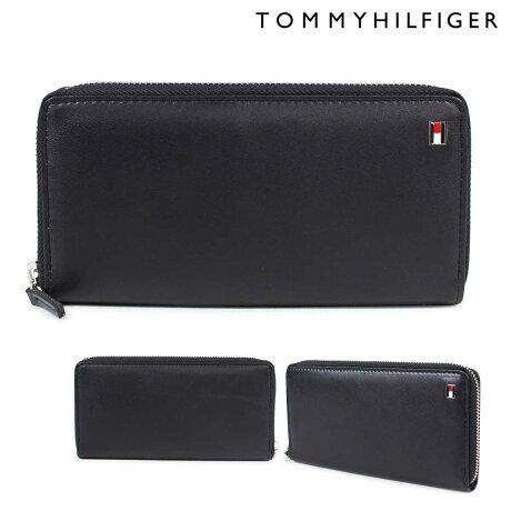 トミーヒルフィガー 財布 TOMMY HILFIGER 長財布 メンズ ラウンドファスナー レザー OXFORD WALLET 4691 31TL13X009-001 ブラック