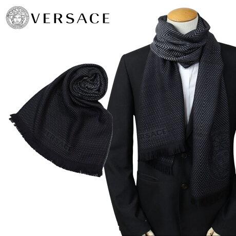 VERSACE マフラー ヴェルサーチ ベルサーチ メンズ ウール イタリア製 カジュアル ビジネス 0645 [1712]