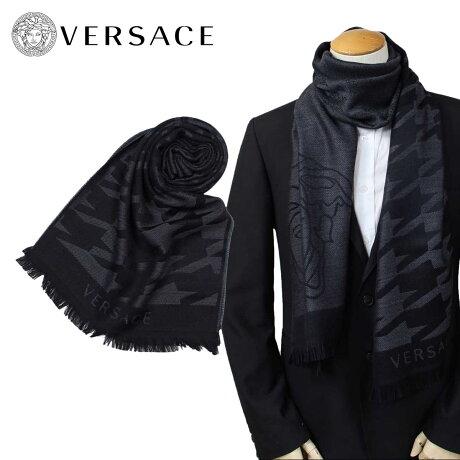 VERSACE マフラー ヴェルサーチ ベルサーチ メンズ ウール イタリア製 カジュアル ビジネス 0643